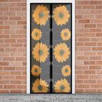 Szúnyogháló függöny ajtóra napraforgós
