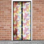Szúnyogháló függöny ajtóra szines pillangós