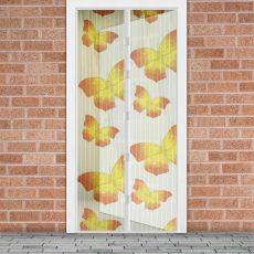 Szúnyogháló függöny ajtóra sárga pillangós