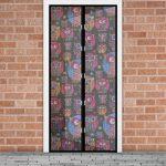 Szúnyogháló függöny ajtóra baglyos