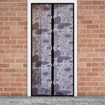 Szúnyogháló függöny ajtóra lila pillangós