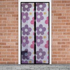 Szúnyogháló függöny ajtóra szines virágos